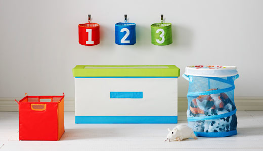 Come tenere in ordine i giocattoli dei bambini piccoli - Scatole in plastica ikea ...