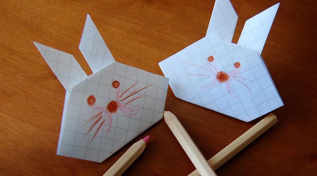 Come fare un coniglietto di carta