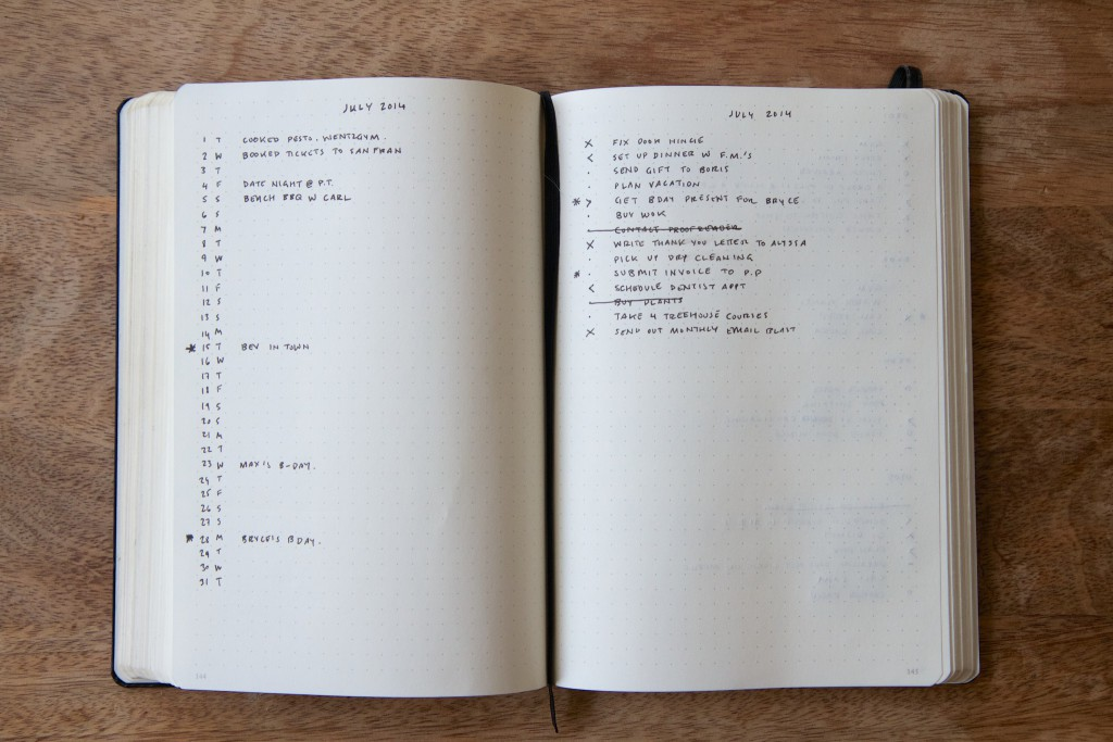 Come creare un bullet journal