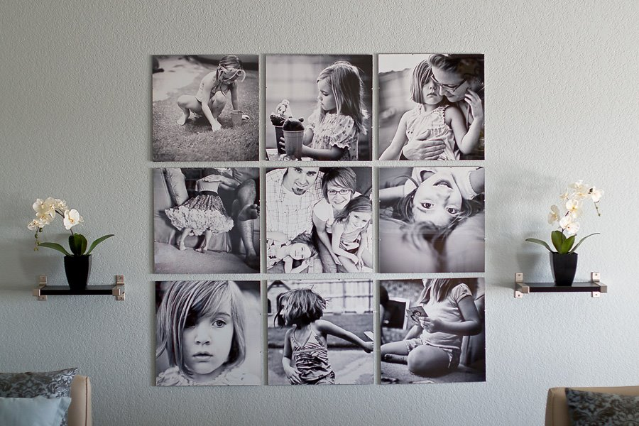 Come disporre le foto sulla parete